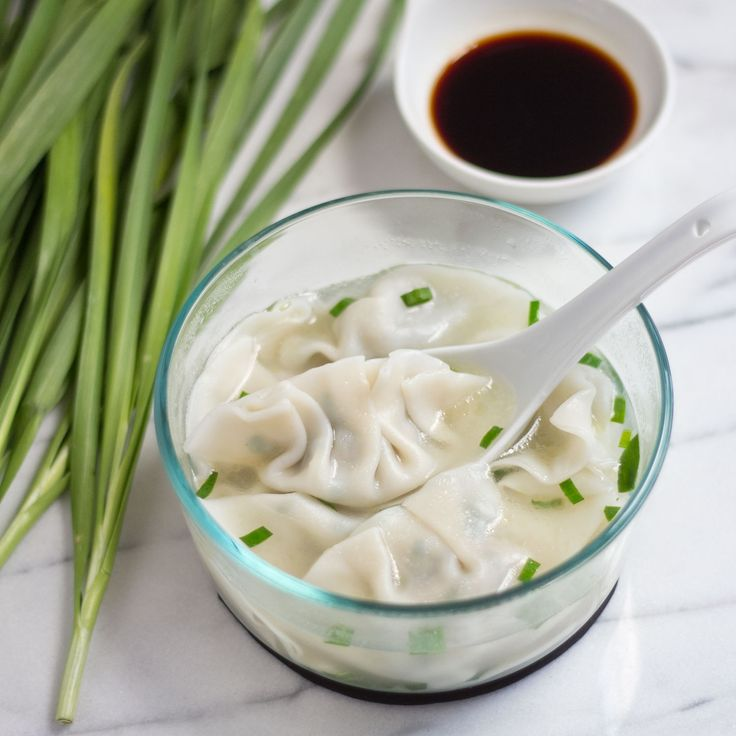 Pork and chives dumplings