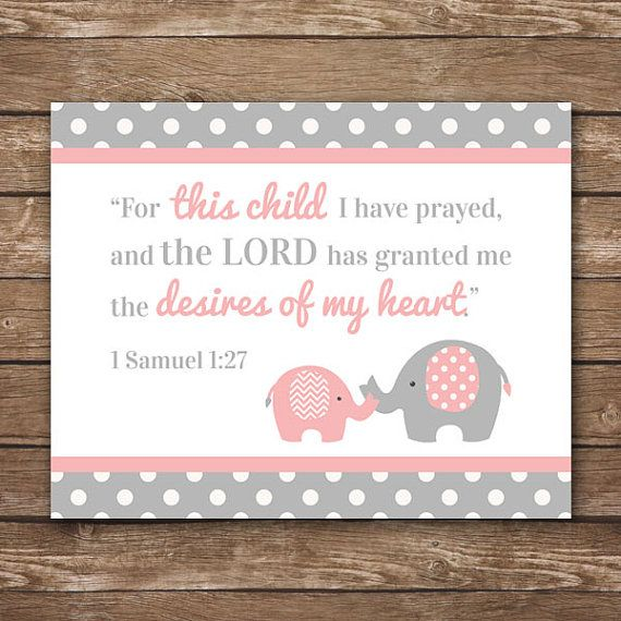 INSTANT DOWNLOAD  1 Samuel 1:27  For This Child I by MadeByMonVon