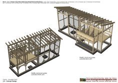 home garden plans: M113 _ 2 in 1 Chicken Coop Plans - Split Chicken Coop - Storage Shed - Roll Out Nest Boxes