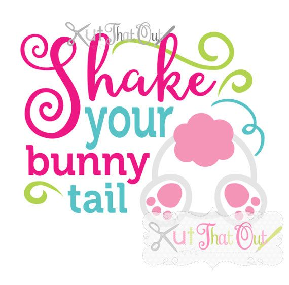 EXCLUSIVE Shake Your Bunny Tail Easter SVG and DXF by KutThatOut