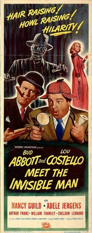 """Abbott and Costello Meet The Invisible Man"" movie poster."