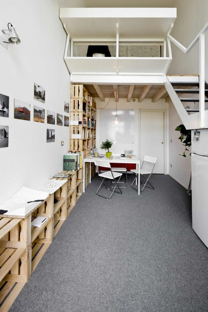 une bibliothèque 100% récup  - blog moltodéco - Déco  Design d'Italie et d'Ailleurs