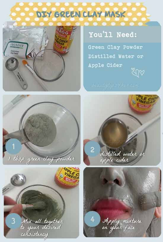 Unbelievable Fix for Oily Skin – DIY Green Clay Mask | Beauty and MakeUp Tips