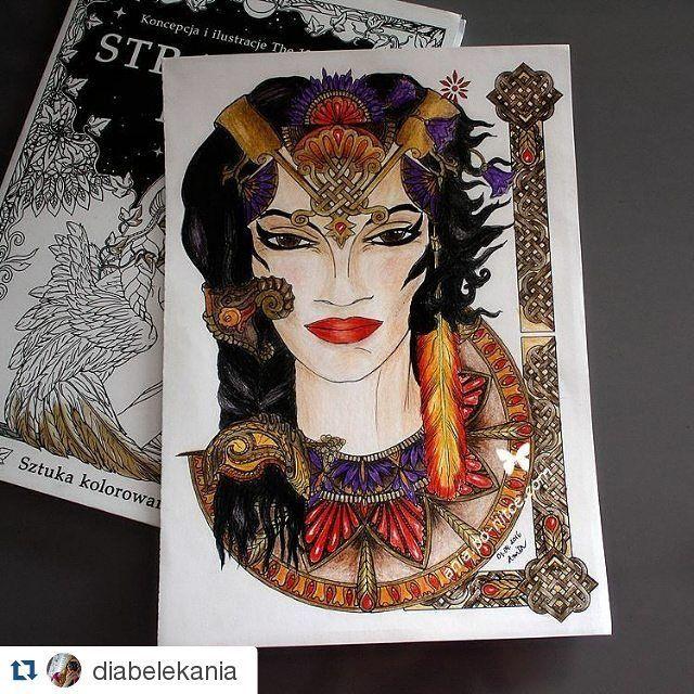 "#Repost @diabelekania with @repostapp ・・・ ""Strażnicy nocy"", kredki Koh-I-Noor Mondeluz zestaw portretowy + czarna FC.  #strażnicynocy #straznicynocy #the13thsign #wydawnictwonaszaksięgarnia #sztukakolorowania #coloringart #coloringbook #coloringbookforadults #adultcolouringbook #adultcolouring #kolorowanka #kolorowankadladorosłych #kredki #kohinoormondeluz #kohinoor #coloriage #coloringaddict #kolorowamafia #bayan_boyan #boracolorirtop #creativelycoloring  #colorindolivrostop…"