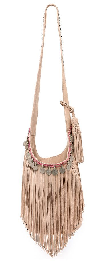 SIMONE CAMILLE Studded bucket bag with fringe found on Nudevotion
