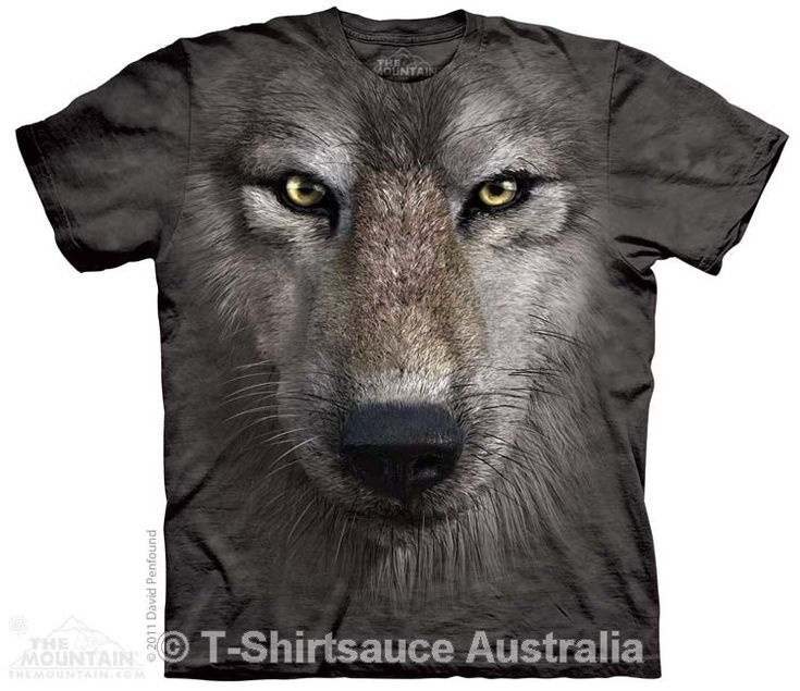 Wolf Face Adults T-Shirt