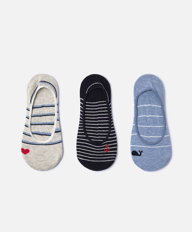 3 shoe liner socks - Socks - NIGHTWEAR | Oysho