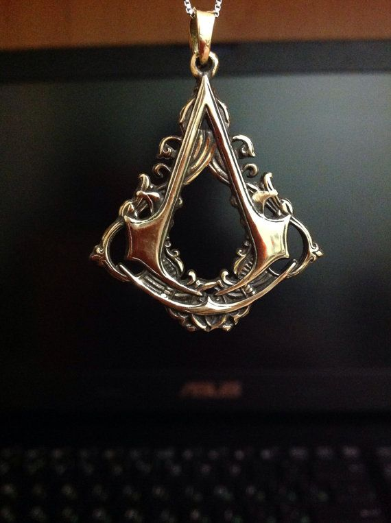 Assassin's Creed Necklace Assassin's Creed Video Game by DarkMerch