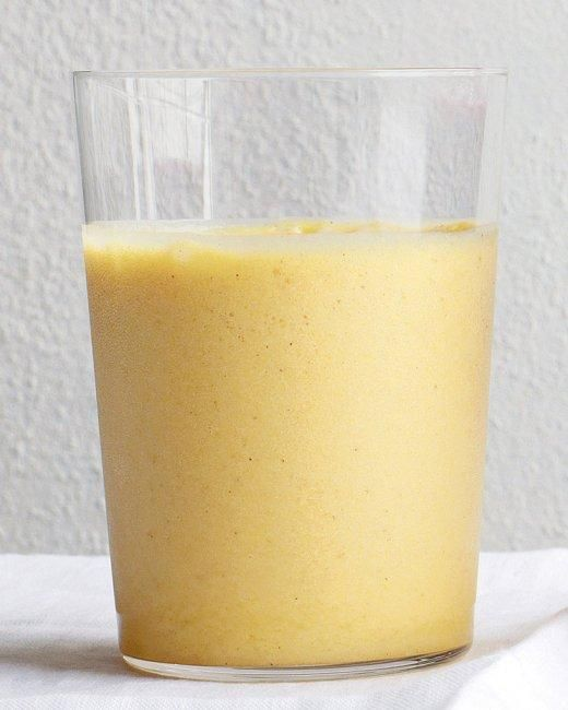Pineapple and Ginger Smoothie Recipe---Ths was actually pretty good.  I added a tiny bit of vanilla to mine.----Carolyn