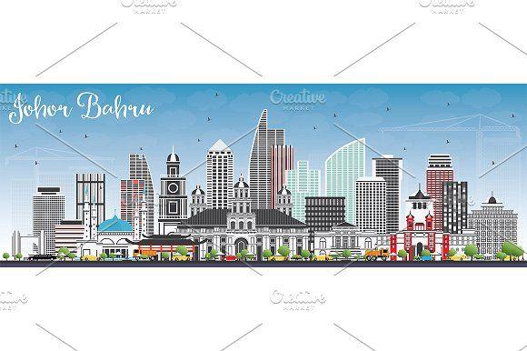 #Johor #Bahru #Malaysia #Skyline  by Igor Sorokin on @creativemarket