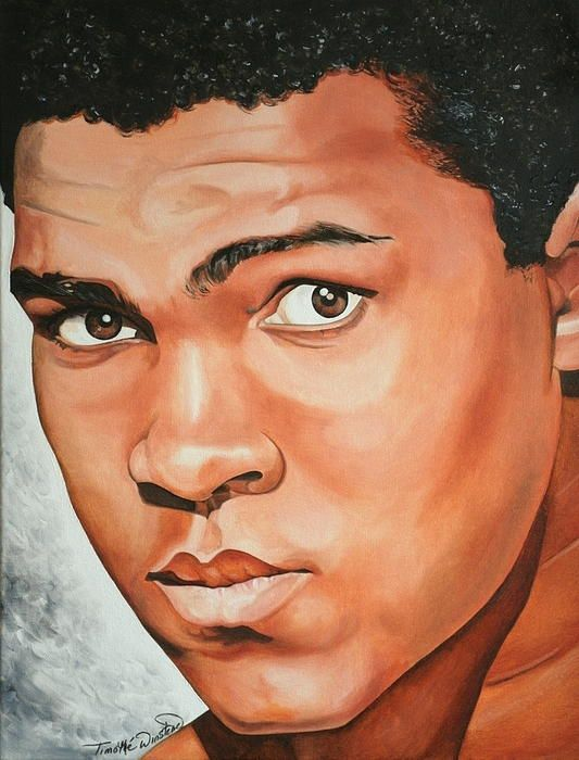 Portrait of Muhammad Ali  by Timothe Winstead