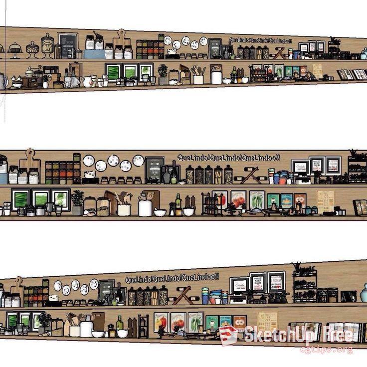 1557 Tableware Sketchup Model Free Download Sketchup
