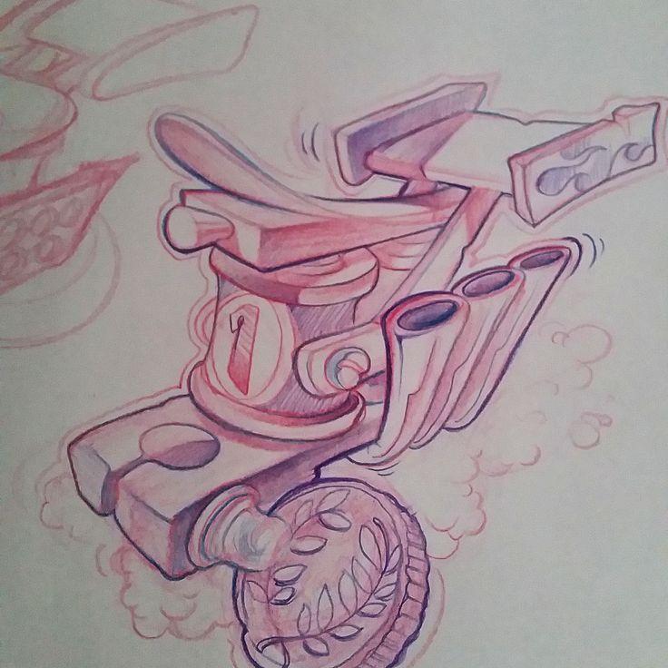 Maquina de tatuar tuneada. Tattoomachine                              …