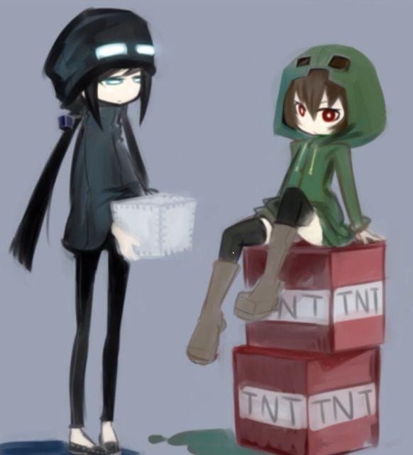 25 best ideas about minecraft anime girls on pinterest - Anime creeper girl ...