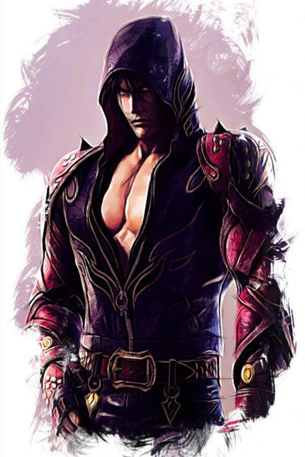 Jin Kazama Sketch Poster Print By Apocalypticaboy Displate Jin Kazama Tekken 7 Jin Character Sketch