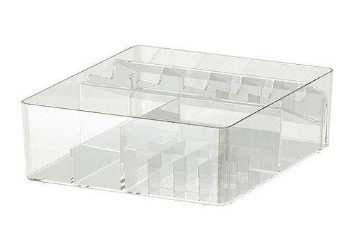 Caja con compartimentos de 32x28x10 cm. Ideal para el maquillaje, las pinturas de ojos, pineales, brochas.