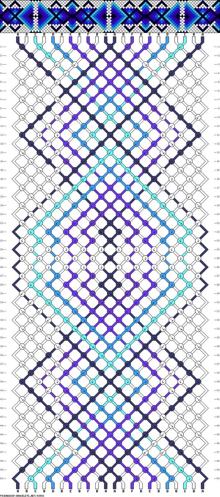 Muster # 93543, Streicher: 22 Zeilen: 50 Farben: 6