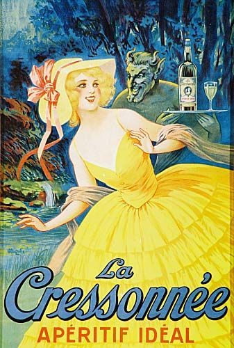 Poster for La Cressonnee Aperitif Ideal  Image Ref: ABS00041…