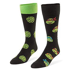 Exclusive Teenage Mutant Ninja Turtle 2-pack Crew Socks