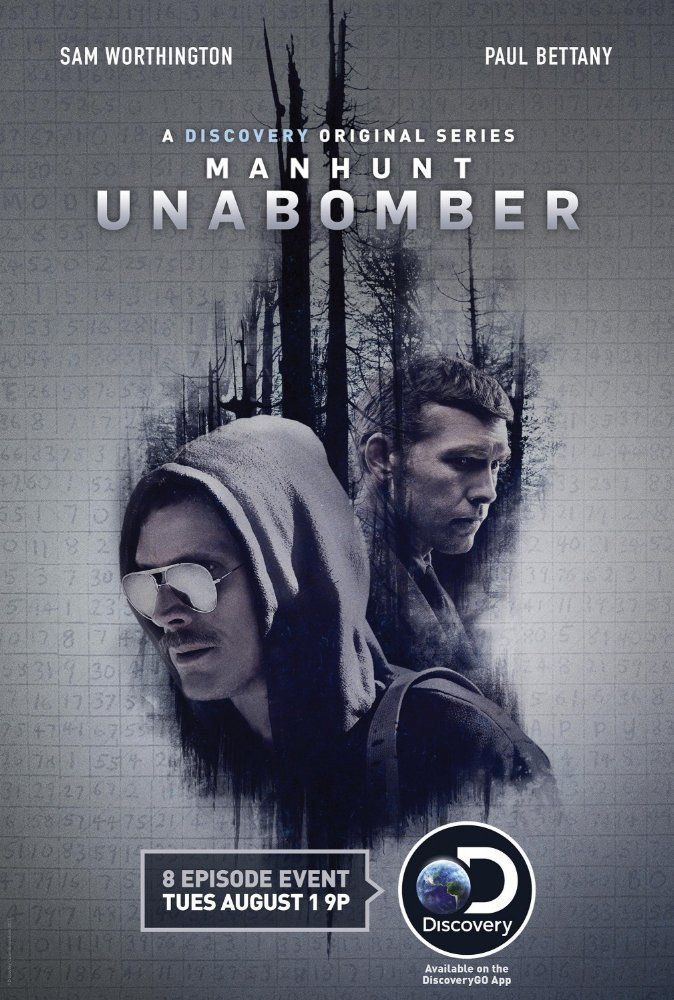Paul Bettany and Sam Worthington in Manhunt: Unabomber (2017)