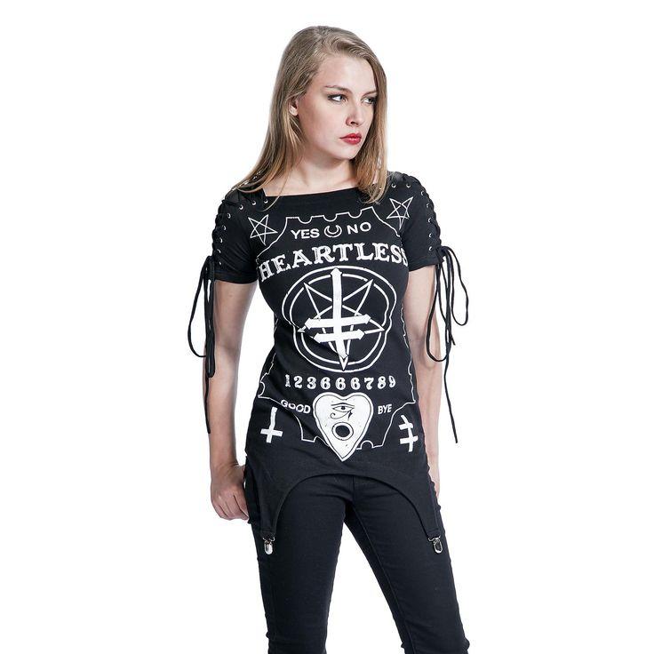 """T-shirt, """"Regret Top"""", Heartless • Sweden Rock Shop, 449 SEK"""