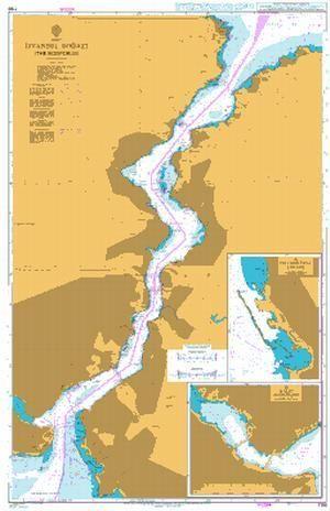 British Admiralty Nautical Chart 1198: Turkey, Istanbul Bogazi (The Bosporus)