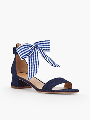 8503c3704c8 Naomi Scarf-Tie-Denim Sandals