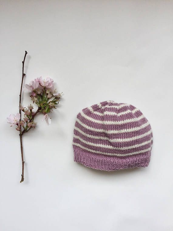 Baby Girl Coming Home Hat Newborn Baby Hat with Stripes Baby