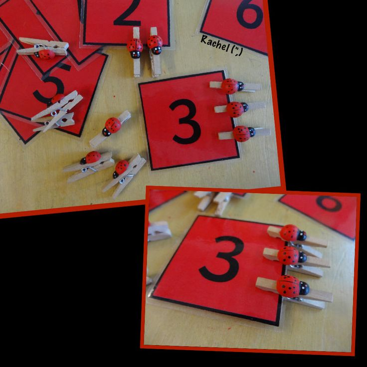 """Counting, number recognition and fine motor work from Rachel ("""",)"""