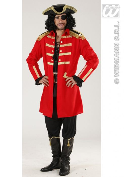 Adult Mens Captain Hook Style Pirate Costume