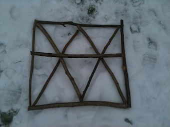 A neat activity to keep kids busy for a while: How many triangles can you make with 9 sticks? This is a really neat outdoor learning blog!