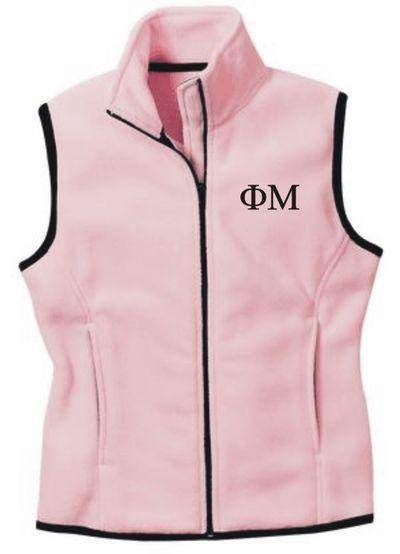 Sorority Fleece Full Zip Vest SALE $38.95. - Greek Clothing and Merchandise - Greek Gear®
