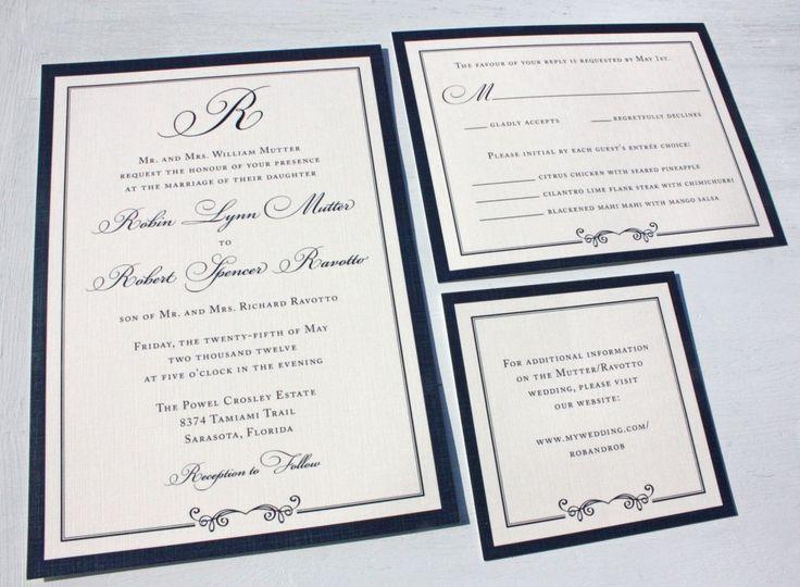 Wedding Invitation Formal: 1000+ Ideas About Formal Invitations On Pinterest