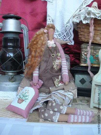 Клоди - бледно-розовый,очарование,кукла ручной работы,домашний уют,рукоделие