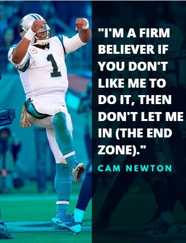 Don't like Cam Newton's end-zone celebrations? Well ...