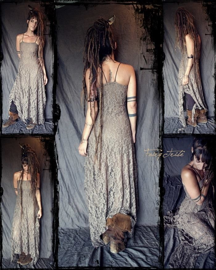Celtic Pagan Druidess Priestess outfit & body paint