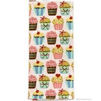 #Retro Cupcake Print Kitchen Towel  http://www.retroplanet.com/PROD/36446: Chic Cupcake, Cotton Towels, Cupcake Rosa-Choqu, Kitchens Towels D, Cakes Cupcake, Cupcake Prints, Cupcake Kitchens, Cupcake Stuff, Dishes Towels Cakes