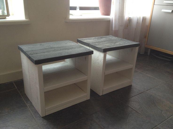 Nachtkastjes wit/greywash