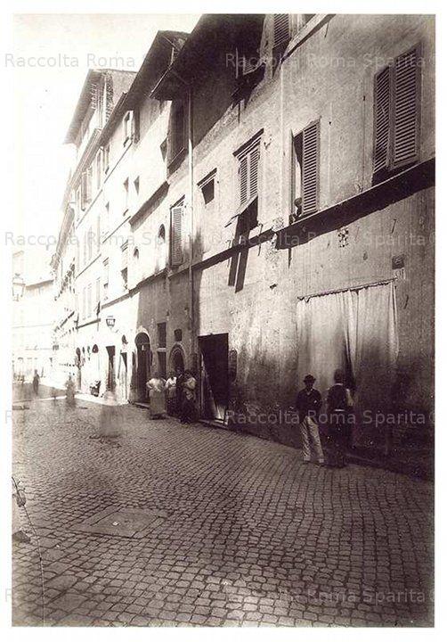 Roma Sparita - Via dei Banchi prima delle demolizioni per Corso VIttorio