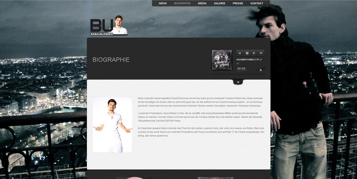 Here you can find the Biographie from Baba Uslender.