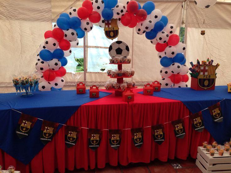 Party barcelona party pinterest soccer party birthdays and barcelona soccer party - Lucio barcelona decoracion ...