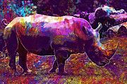"New artwork for sale! - "" Black Rhino by PixBreak Art "" - http://ift.tt/2uwT01W"