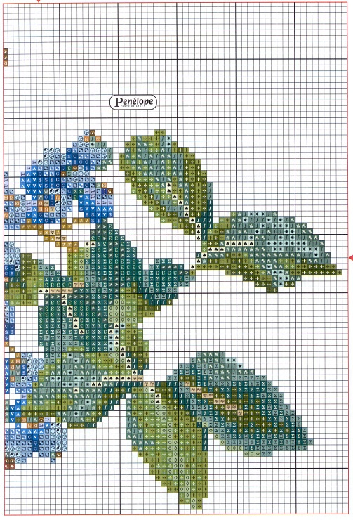 Blueberries cross stitch continued pattern (page 2).