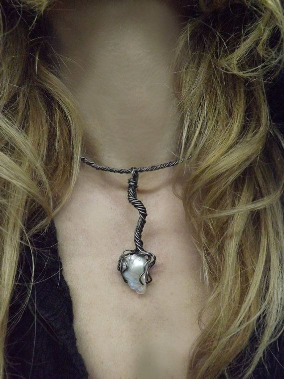 Oxidized Sterling Silver Choker Nuclear by BonTonContemporary