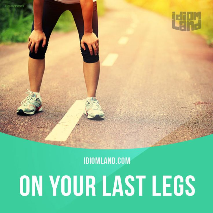 """On your last legs"" means ""to be very tired"".  Example: We'd been out walking all day and I was on my last legs when we reached the hotel.  #idiom #idioms #saying #sayings #phrase #phrases #expression #expressions #english #englishlanguage #learnenglish #studyenglish #language #vocabulary #dictionary #grammar #efl #esl #tesl #tefl #toefl #ielts #toeic #englishlearning #vocab #wordoftheday #phraseoftheday"