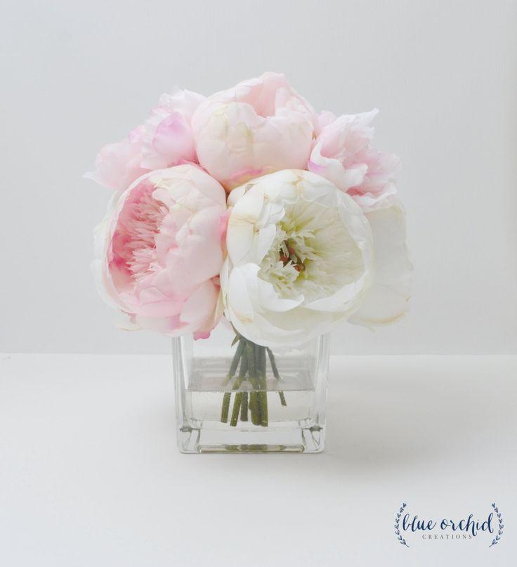 Peony Arrangement, Silk Peonies, Flower Arrangement, Silk Flower Arrangement…