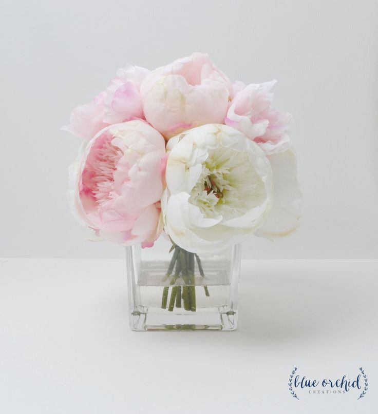 Peony Arrangement, Silk Peonies, Flower Arrangement, Silk Flower Arrangement…