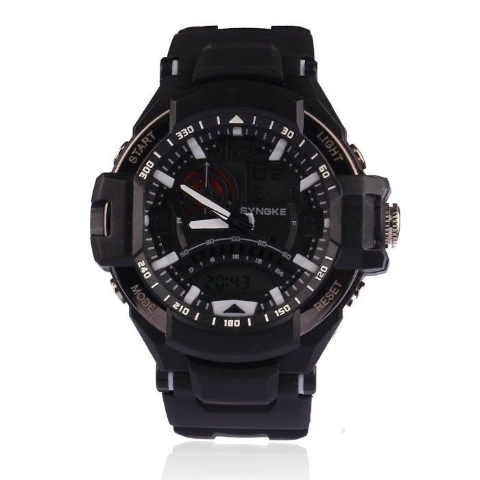 8.31$  Watch now - http://alic38.shopchina.info/go.php?t=1788231359 - 2015 Hot sale! Men's Military watch Dual Time led Digital analog quartz wrist Sports watch Chronograph Free Shipping 8.31$ #magazineonlinewebsite