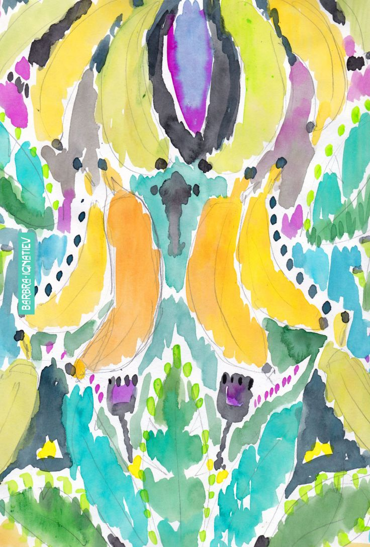 Daily Color #65: Bananas · Barbarian by Barbra Ignatiev