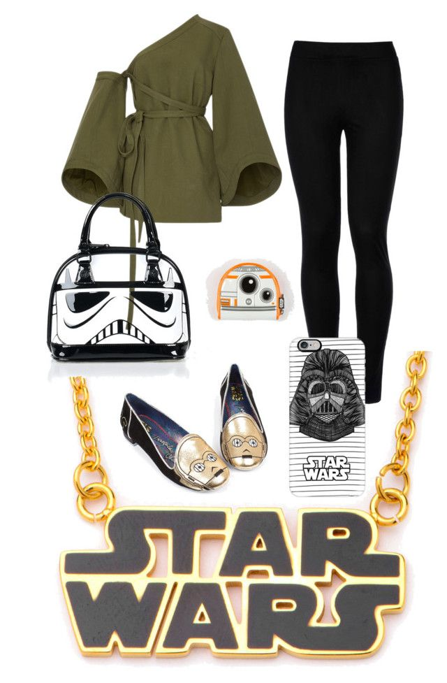 """Starwars <3"" by painted1981 on Polyvore featuring Irregular Choice, Wolford, Rosie Assoulin, Loungefly and Casetify"